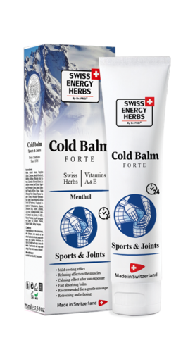 COLD BALM 8 Swiss Herbs + Vitamins A, E + Methyl salicylate + Menthol